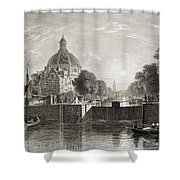 Amsterdam, View On The Singel. From The Shower Curtain