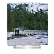 Amtrak 112 1 Shower Curtain by Jim Thompson
