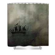 Amundsen And Fram Shower Curtain