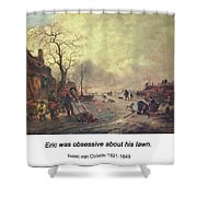 Amusement On The Ice 1645  Shower Curtain