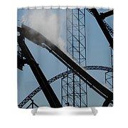 Amusement Park Abstract Shower Curtain