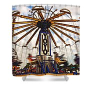 Amusement Park Shower Curtain