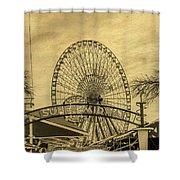 Amusement Park Vintage Shower Curtain