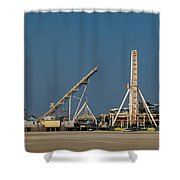 Amusement Pier And Waterpark Shower Curtain