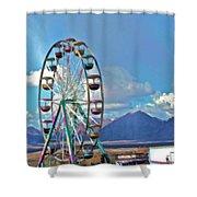 Amusement View Shower Curtain