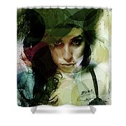 Amy Whirls  Shower Curtain