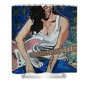 Amy Winehouse Shower Curtain