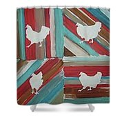 Amy's Chickens Shower Curtain