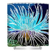 An Abstract Scene Of Sea Anemone 1 Shower Curtain