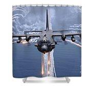 An Ac-130h Gunship Aircraft Jettisons Shower Curtain