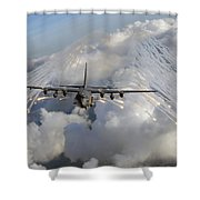 An Ac-130u Gunship Jettisons Flares Shower Curtain