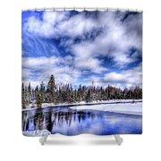 An Adirondack Winter Shower Curtain