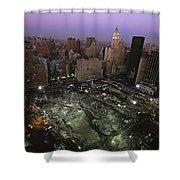 An Aerial View Of Ground Zero Shower Curtain