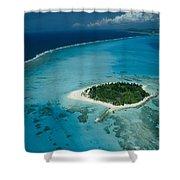 An Aerial View Of Saipan Island Shower Curtain