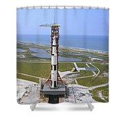 An Aerial View Of The Apollo 15 Shower Curtain