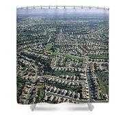 An Aerial View Of Urban Sprawl Shower Curtain