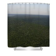 An Aerial View Shows The Forests Shower Curtain
