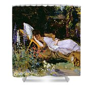 An Afternoon Nap Shower Curtain by Harry Mitten Wilson