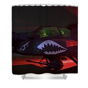 An Ah-64d Apache Longbow Shower Curtain