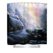 An Alaskan Night Shower Curtain
