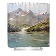 An Alaskan View Shower Curtain