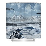 An Alien Base Located In The Antarctic Shower Curtain