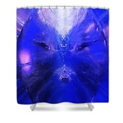An Alien Visage  Shower Curtain
