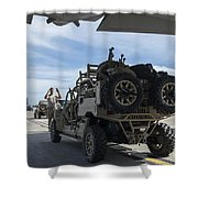 An All-terrain Vehicle Is Guided Onto Shower Curtain