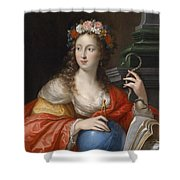 An Allegory Of Intelligence Shower Curtain