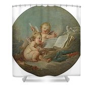 An Allegory Of Poetry Shower Curtain