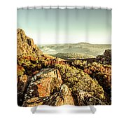 An Alpine Morning Shower Curtain