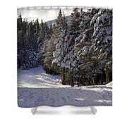 An Alpine Ski Trail On Wildcat Mountain Shower Curtain