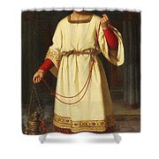 An Altar Boy Shower Curtain by Abraham Solomon