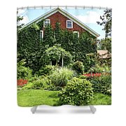 An Amana Garden Shower Curtain