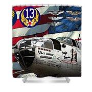 An American B-25c Pof Shower Curtain