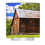 An American Barn 2 Painted Shower Curtain