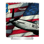 An American F-51 Ang Shower Curtain