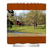 An American Farmer Shower Curtain