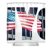 An American Flag In New York. Shower Curtain