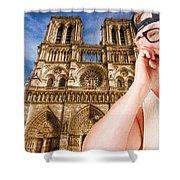 An American In Paris Notre Dame Shower Curtain