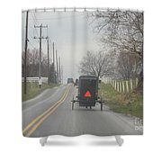 An Amish Buggy In April Shower Curtain