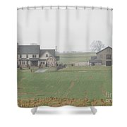 An Amish Family Home Shower Curtain
