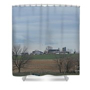 An Amish Field Ready For Planting Shower Curtain