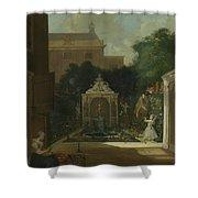 An Amsterdam Canal House Garden, 1745 Shower Curtain