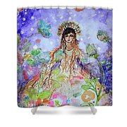 An Angel For All Of The Chakras And Her Name Is Simplicity Shower Curtain