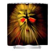 An Angry God Shower Curtain