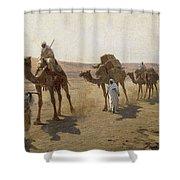 An Arab Caravan Shower Curtain