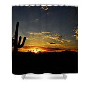 An Arizona Sunrise  Shower Curtain