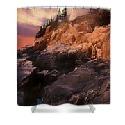 An Art Photograph Of  Bass Harbor Lighthouse,acadia Nat. Park Ma Shower Curtain