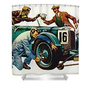 An Aston Martin Racing Car, Vintage 1932 Shower Curtain